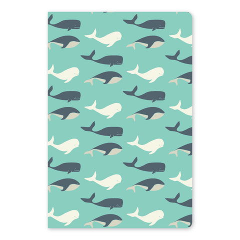 SALE! 20% off - regular price $9.00 Whale Large Notebook