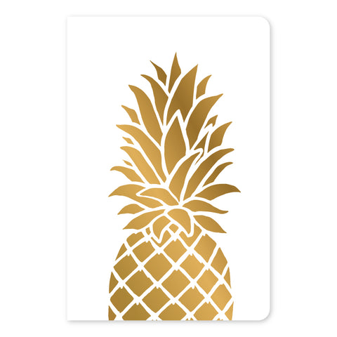 Gold Foil Pineapple Large Notebook