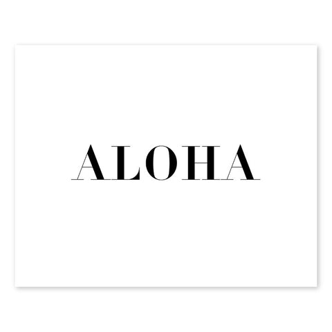 Block Aloha Letterpress Art Print
