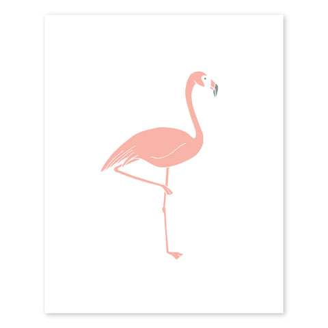 Flamingo Letterpress Art Print