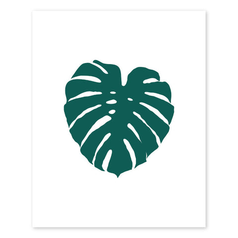 Monstera Letterpress Art Print