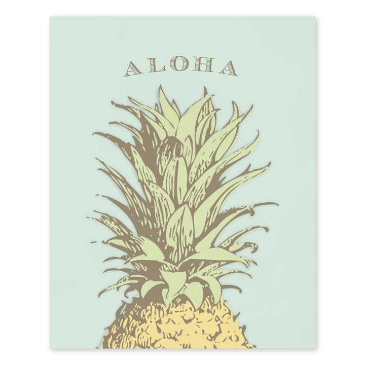 Vintage Pineapple Art Print