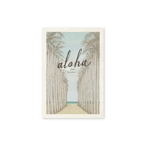 Royal Palms Postcard - Wholesale (Min. 12 Units) - PC005