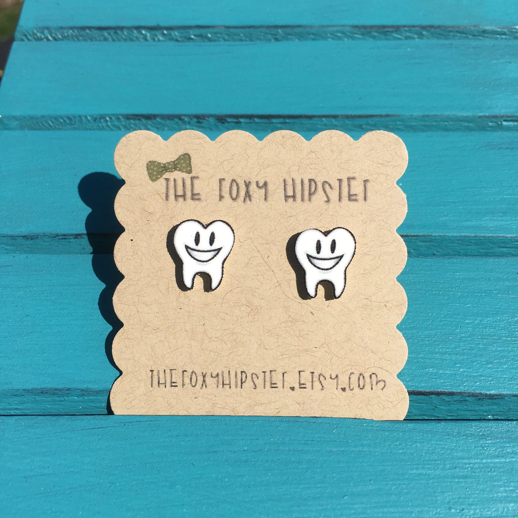 Happy Teeth Stud Earrings
