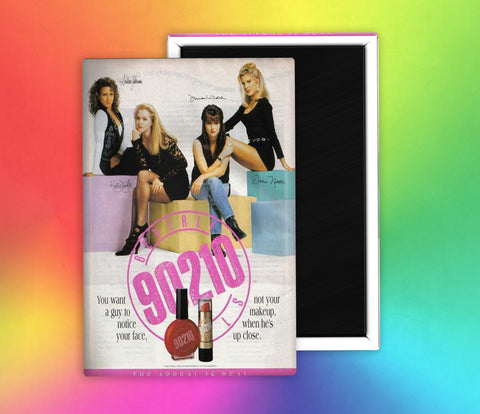 90210 90's Make Up Ad Fridge Magnet