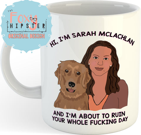 Sarah McLachlan Sad Animal Commercial 11oz coffee mug