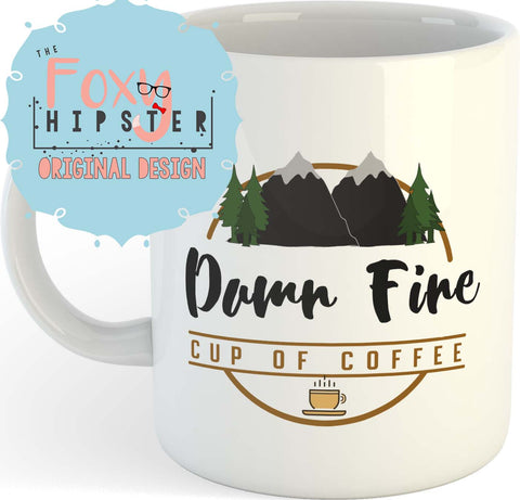 Twin Peaks Damn Fine Coffee 11oz coffee mug
