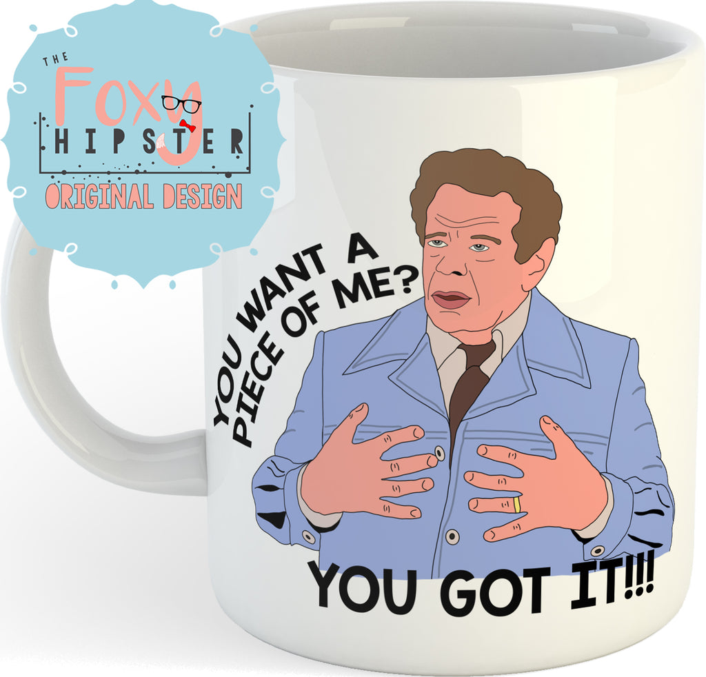Frank Costanza You Want a Piece of Me 11oz coffee mug Seinfeld