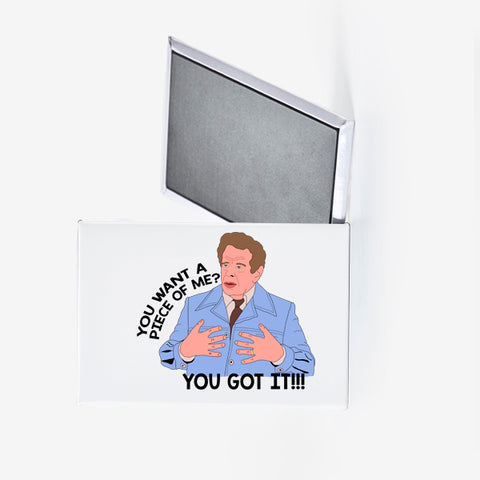 Frank Costanza You Want a Piece of Me Fridge Magnet Seinfeld