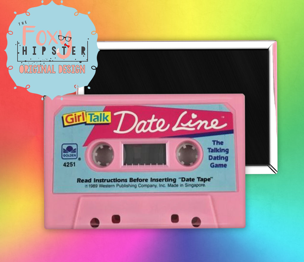 Girl Talk  Board Game Fridge Magnet cassette tape