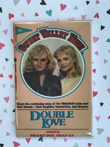 Sweet Valley High Fridge Magnet or Pinback 2x3 inches, Double Love