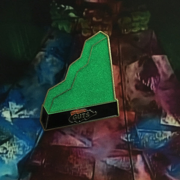 Glow in the dark Aggro Crag Enamel Pin