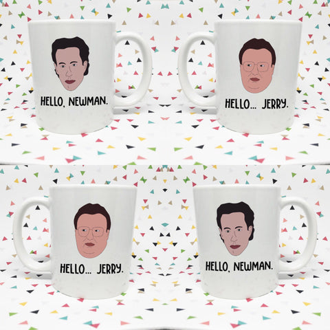 Jerry and Newman  11oz coffee mug Hello Jerry Hello Newman