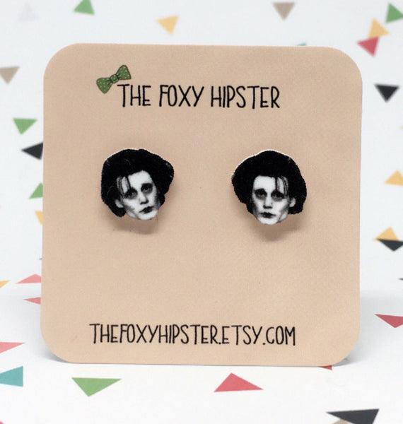 Edward Scissorhands Inspired Stud Earrings
