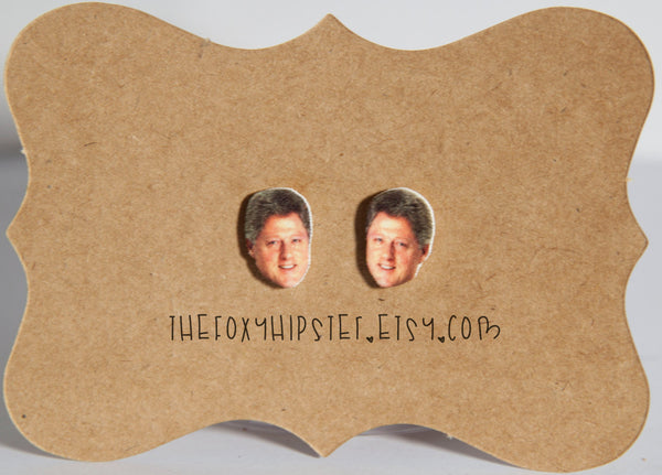 Bill Clinton Inspired Stud Earrings