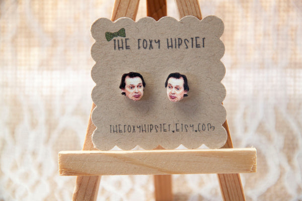 Steve Buscemi Inspired Stud Earrings