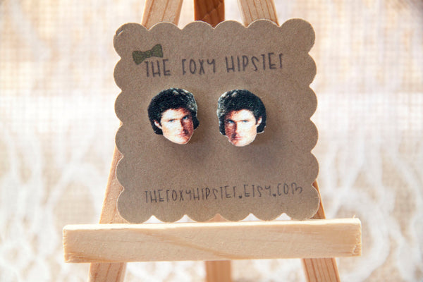 David Hasselhoff Stud Earrings