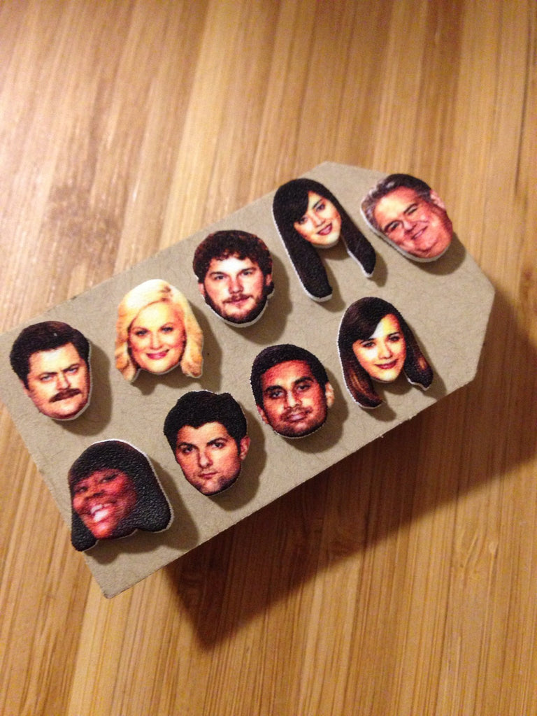 Parks and Recreation Cast Stud Earrings