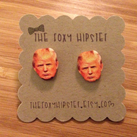 Donald Trump Inspired Stud Earrings