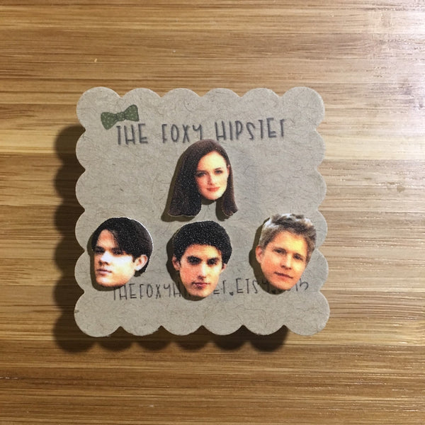 Rory, Dean, Jess, Logan Gilmore Girls Stud Earrings