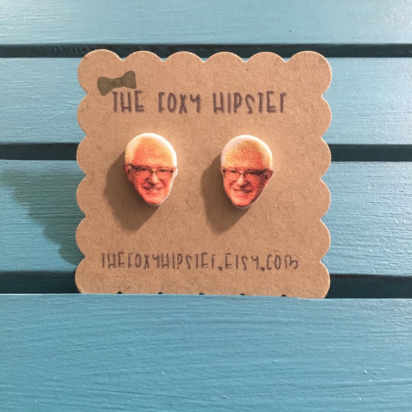Bernie Sanders Stud Earrings