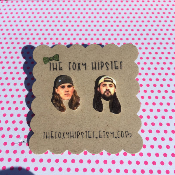 Jay and Silent Bob Stud Earrings