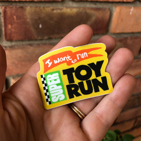 Super Toy Run Vinyl Sticker