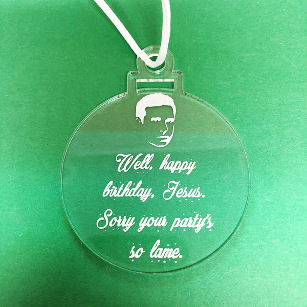 The Office Christmas Jesus Quote Ornament