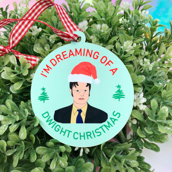 Dreaming of a Dwight Christmas The Office  Christmas Ornament