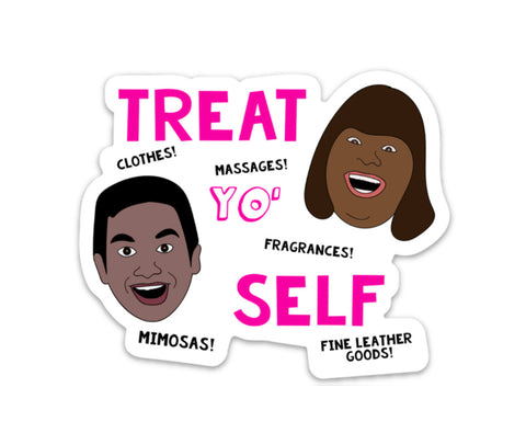 Treat Yo Self Vinyl Sticker