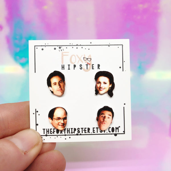 Mix and Match Seinfeld Stud Earrings