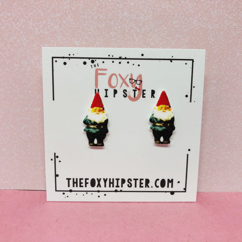 Garden Gnome Stud Earrings