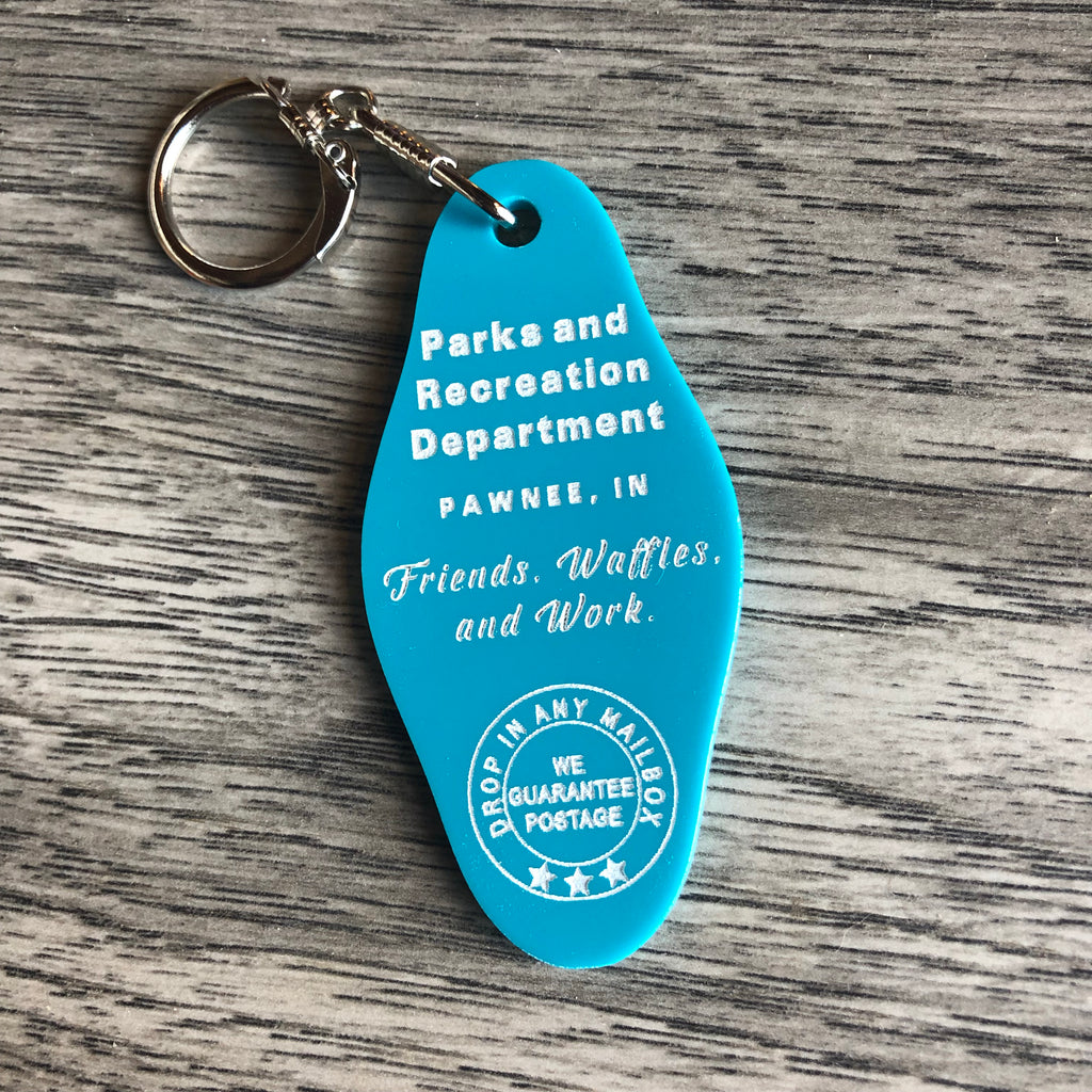 Parks and Recreation Key Chain