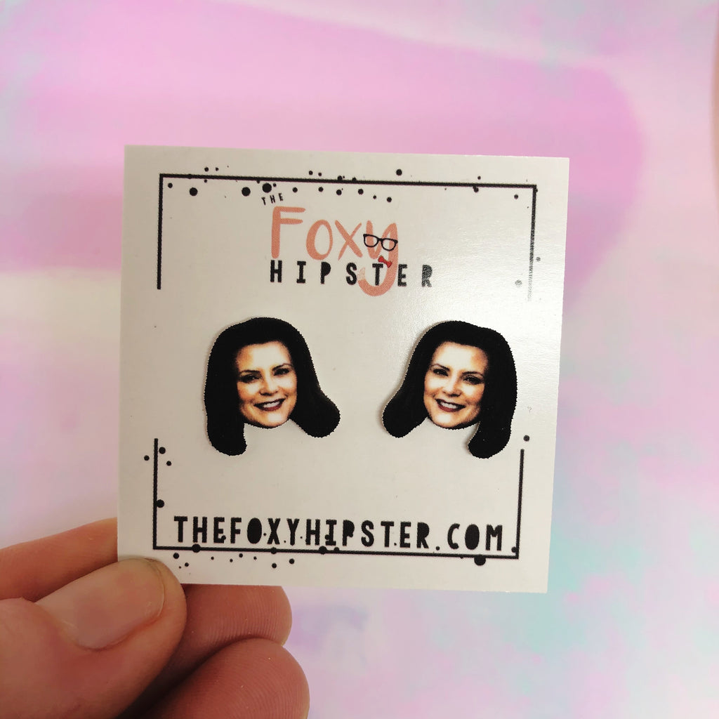 Governor Gretchen Whitmer stud Earrings