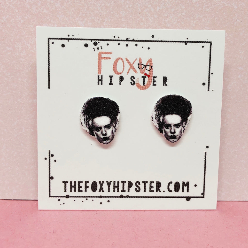 Bride of Frankenstein Stud Earrings