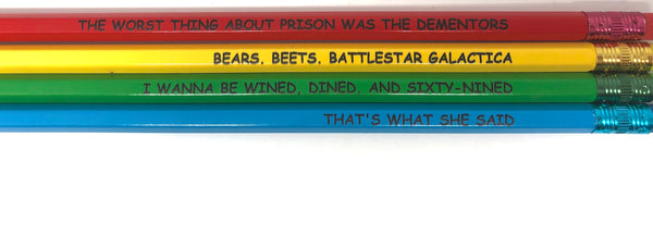 The Office Quotes 6 Piece Pencil Set