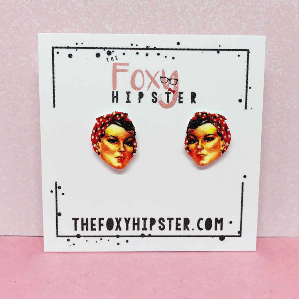 Rosie the Riveter Stud Earrings