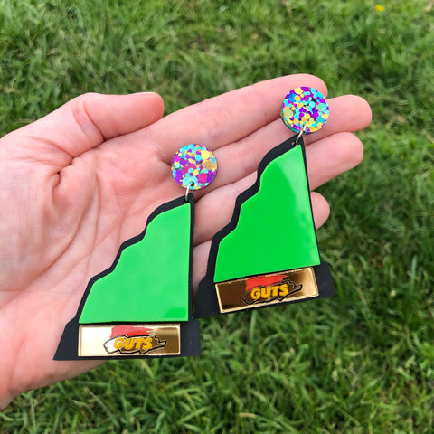 Nickelodeon Guts Aggro Crag Trophy Dangle Earrings