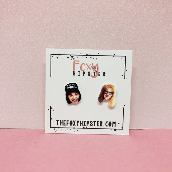 Waynes World Stud Earrings