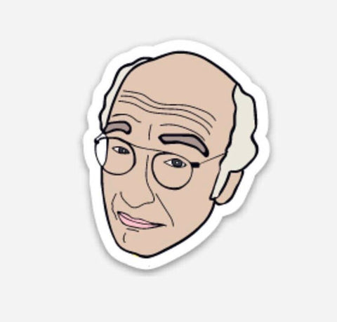 Larry David Vinyl Sticker
