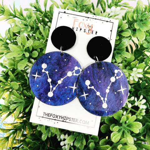 PISCES Astrology Zodiac Constellation Dangle Drop Earrings