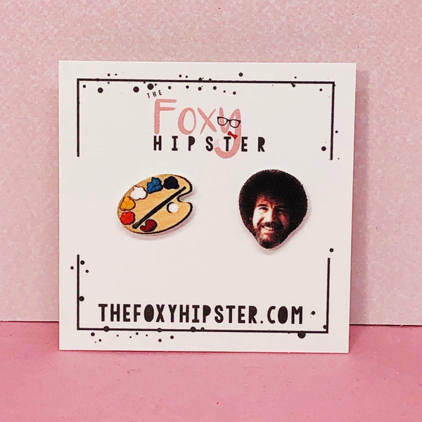 Bob Ross Stud Earrings
