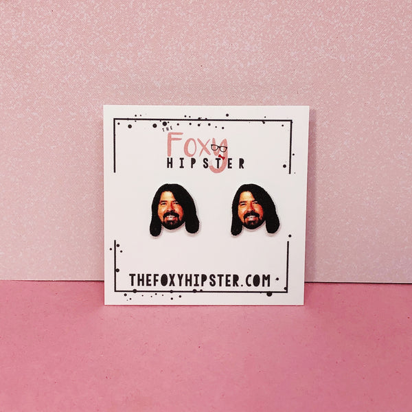Dave Grohl Stud Earrings