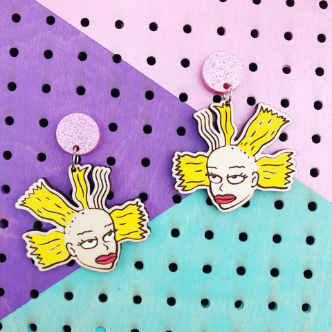 Nickelodeon Rugrats Cynthia Doll Dangle Earrings