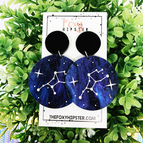 VIRGO Astrology Zodiac Constellation Dangle Drop Earrings