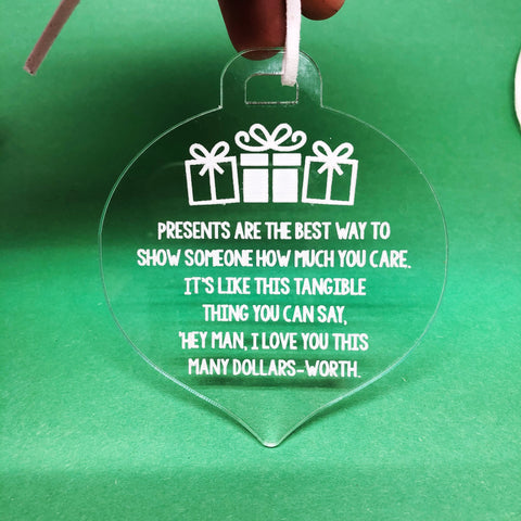 The Office Christmas Present Quote Ornament