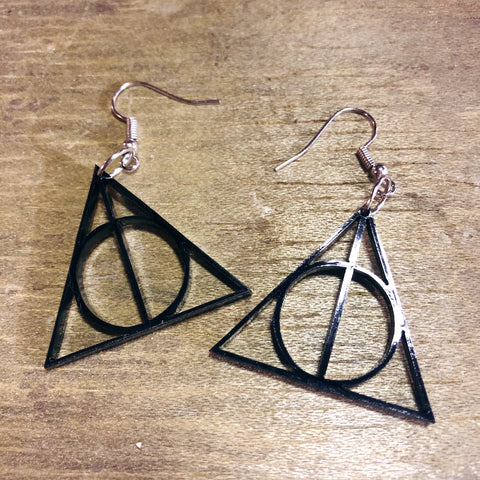 Deathly Hallows Dangle Earrings