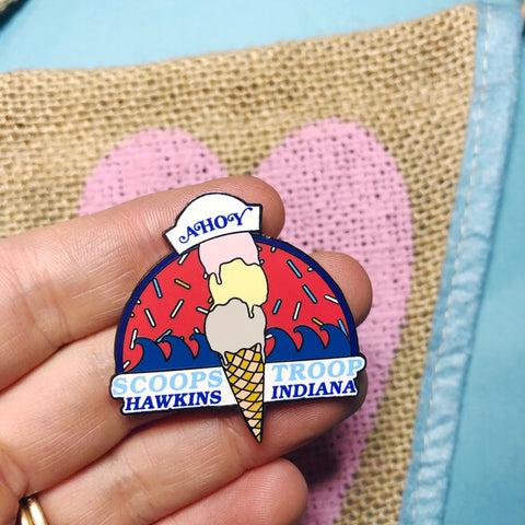 Scoops Troop Hard Enamel Pin