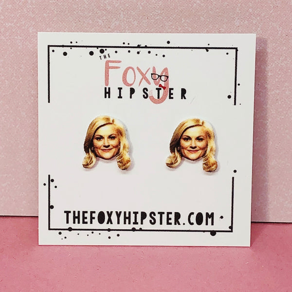 Leslie Knope Inspired Stud Earrings