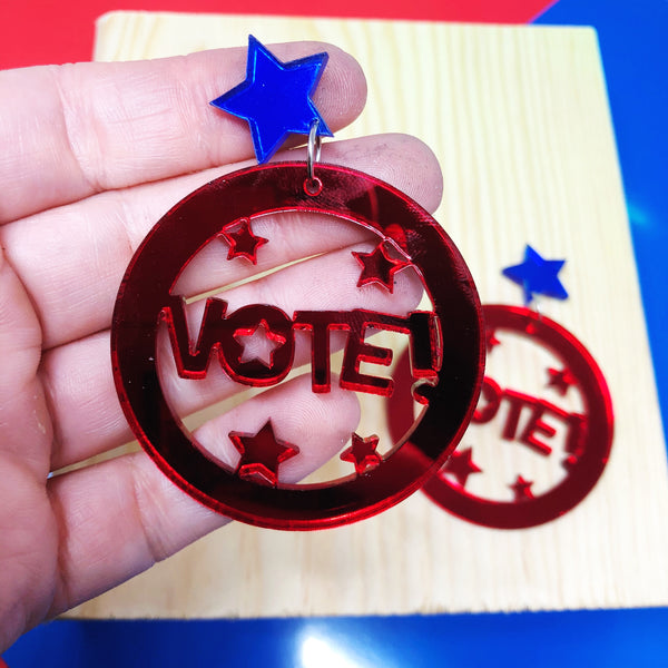 Vote Circle Dangle Earrings